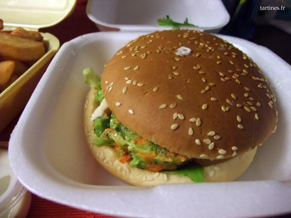Hamburger végétarien : le Printanier
