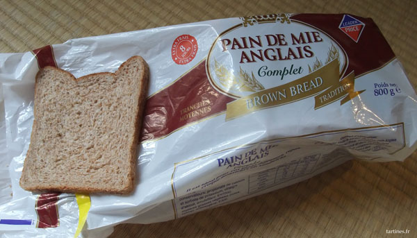 Pain de mie anglais Leader Price