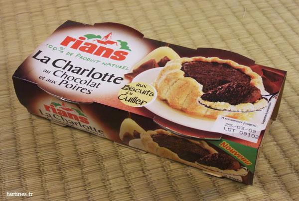 Charlotte au Chocolat et aux Poires Rians