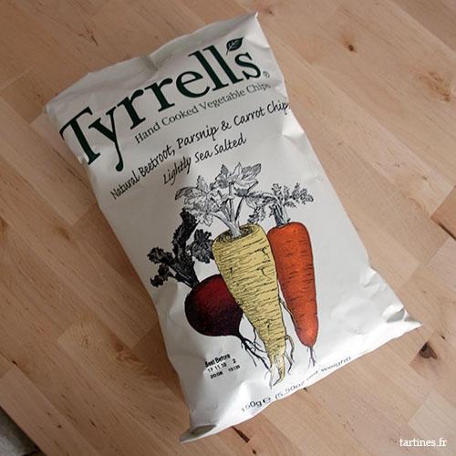 Chips de betterave, carottes et panais