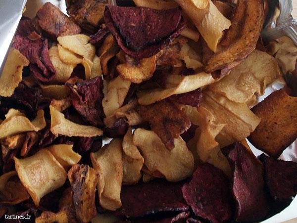 Chips colorées, très classe sur une table basse pour l'apéro
