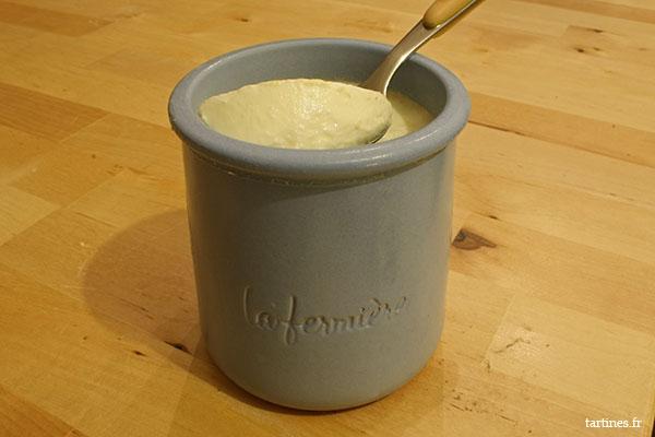 Consistance du yaourt à la vanille