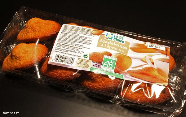 Paquet de madeleines bio