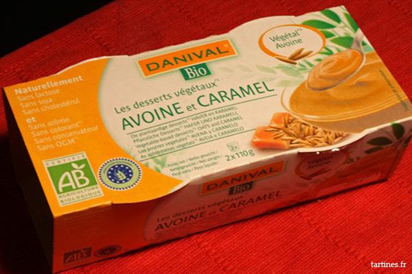 Dessert d'avoine et caramel bio