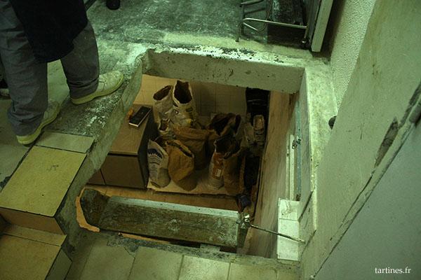 Accès au sous-sol, un peu casse-gueule