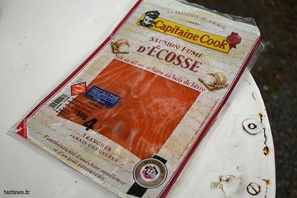 Emballage de saumon fumé
