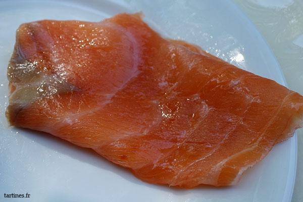 Le saumon est visiblement gras