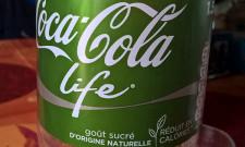 Couleur verte pour ce Coca Life